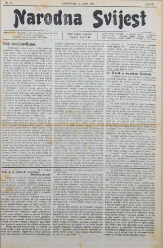 Narodna svijest, 1921/15