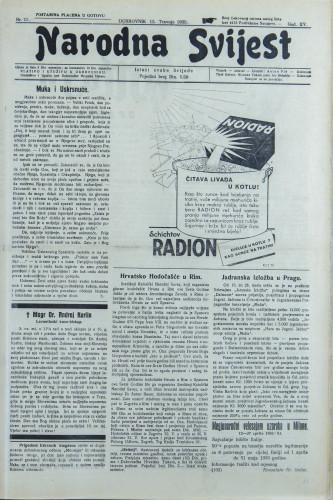 Narodna svijest, 1933/15