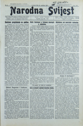 Narodna svijest, 1933/4
