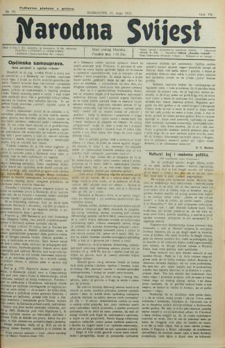 Narodna svijest, 1925/19
