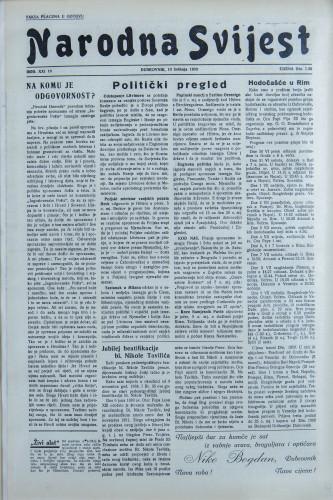 Narodna svijest, 1939/19