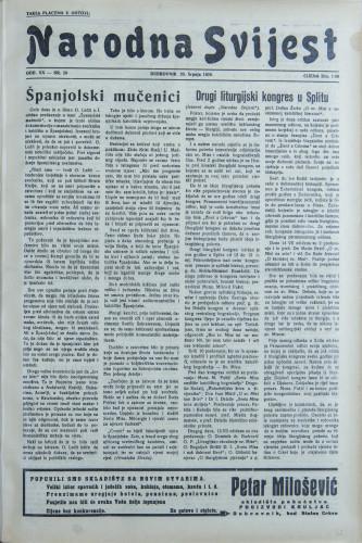 Narodna svijest, 1938/29