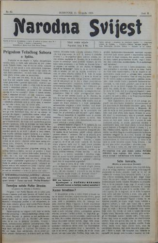 Narodna svijest, 1920/42