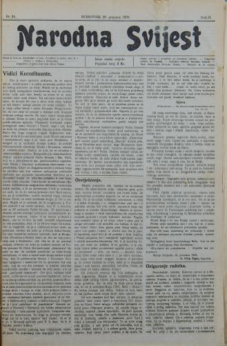 Narodna svijest, 1920/54