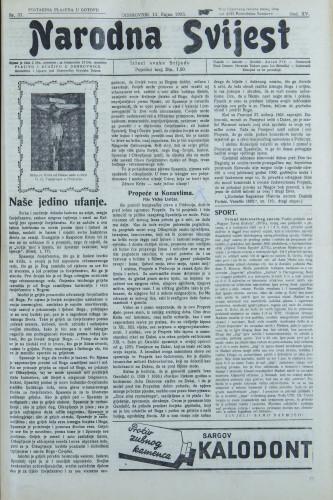 Narodna svijest, 1933/37