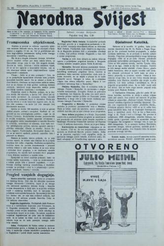 Narodna svijest, 1933/48