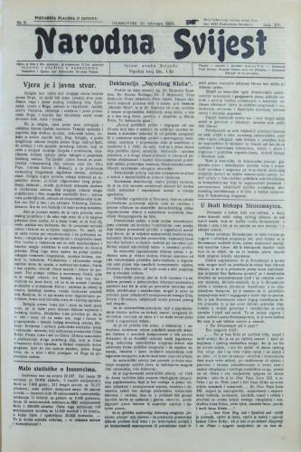 Narodna svijest, 1933/8