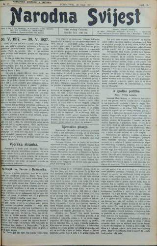 Narodna svijest, 1927/21