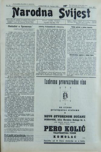 Narodna svijest, 1932/16