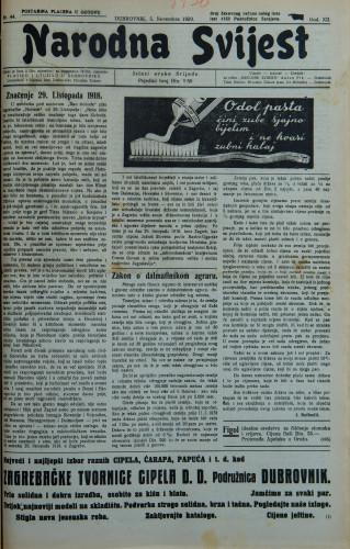 Narodna svijest, 1930/44