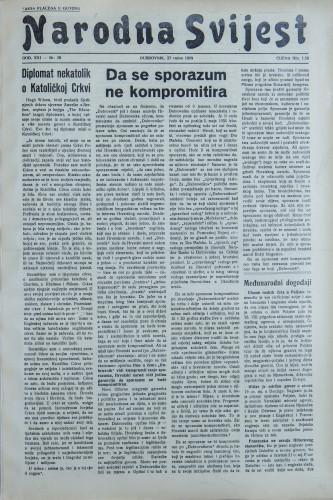 Narodna svijest, 1939/39