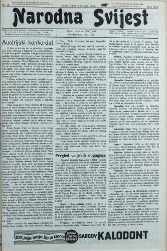 Narodna svijest, 1934/19