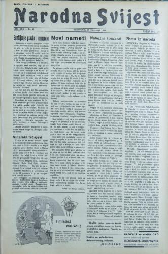 Narodna svijest, 1940/48