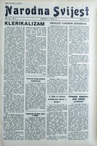 Narodna svijest, 1937/11