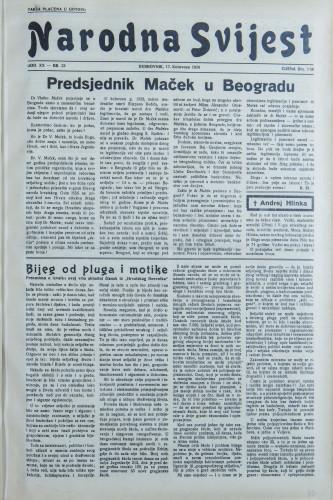 Narodna svijest, 1938/33