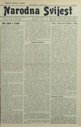 Narodna svijest, 1925/11