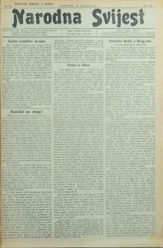 Narodna svijest, 1925/53