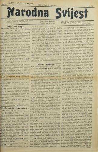 Narodna svijest, 1925/22