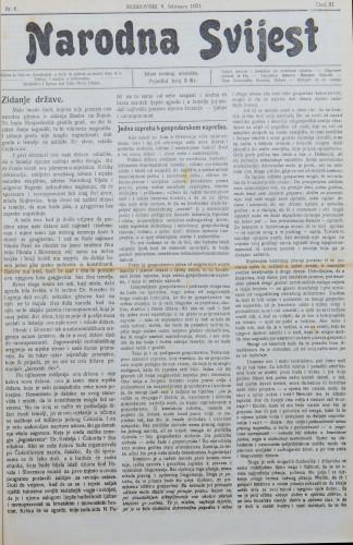 Narodna svijest, 1921/6