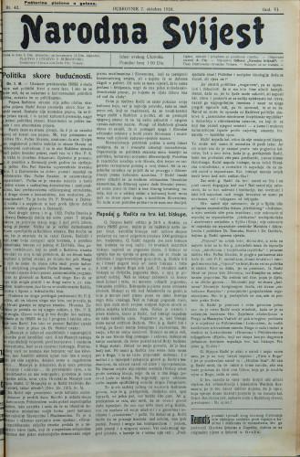 Narodna svijest, 1924/42