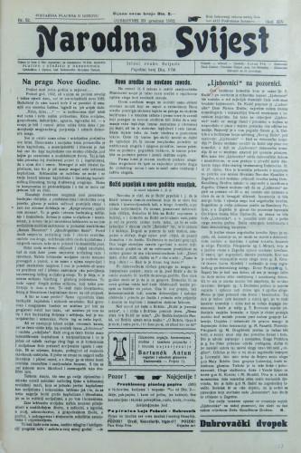 Narodna svijest, 1932/52