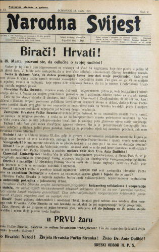 Narodna svijest, 1923/13