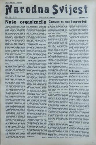 Narodna svijest, 1939/38