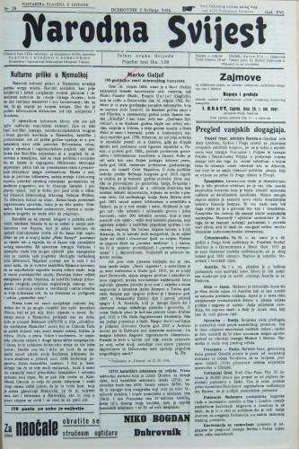 Narodna svijest, 1934/18