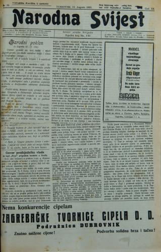 Narodna svijest, 1930/32