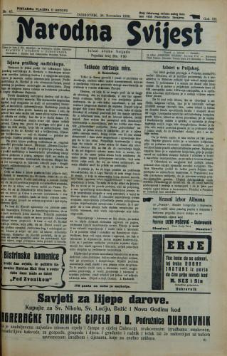 Narodna svijest, 1930/47