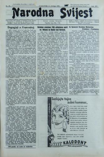 Narodna svijest, 1932/19