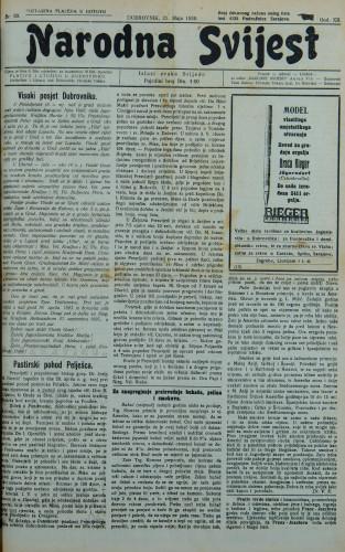 Narodna svijest, 1930/20