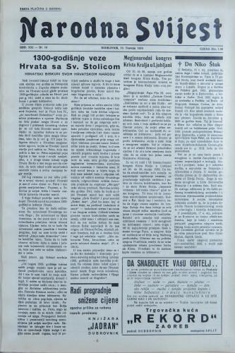 Narodna svijest, 1939/16