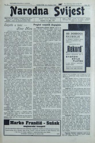 Narodna svijest, 1933/51