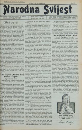 Narodna svijest, 1924/26