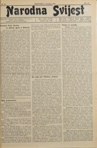 Narodna svijest, 1922/48