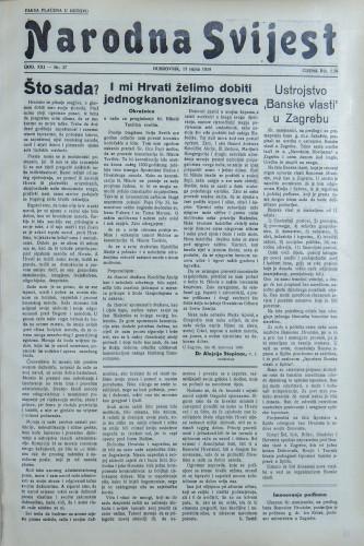Narodna svijest, 1939/37