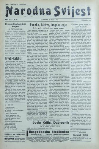 Narodna svijest, 1940/39
