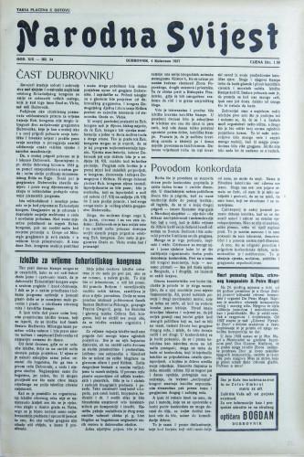 Narodna svijest, 1937/34