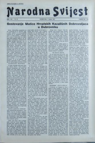Narodna svijest, 1939/27