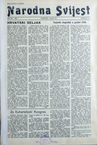 Narodna svijest, 1937/1