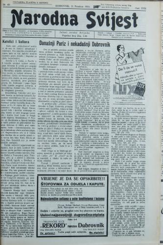 Narodna svijest, 1935/49