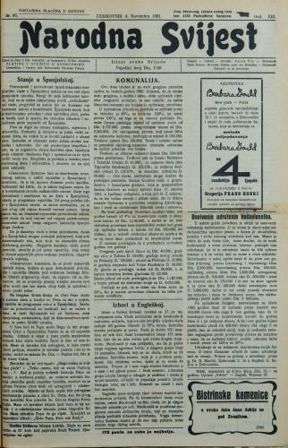 Narodna svijest, 1931/45