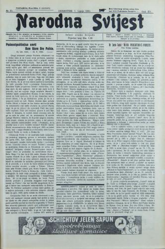 Narodna svijest, 1933/23