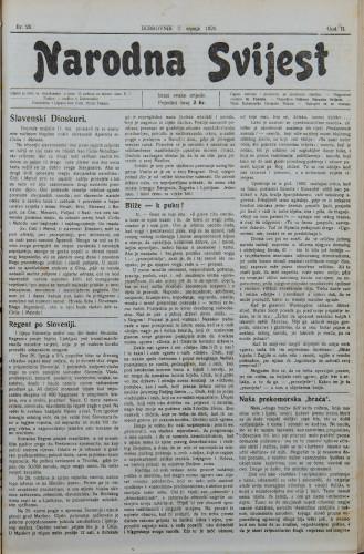 Narodna svijest, 1920/28