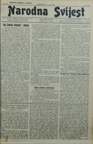 Narodna svijest, 1926/28