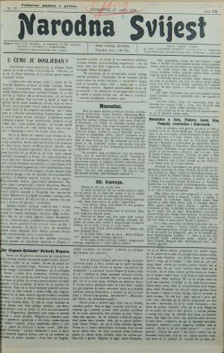 Narodna svijest, 1926/17