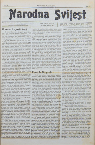 Narodna svijest, 1921/10