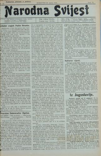 Narodna svijest, 1924/14