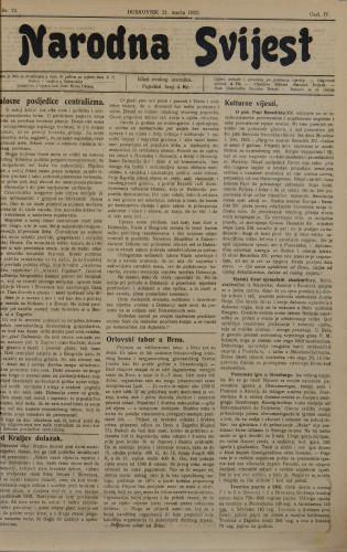 Narodna svijest, 1922/12